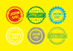 Join Us Stamps vector