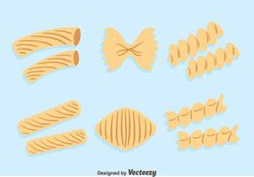 Macaroni Collection On Blue Vector