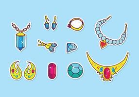 Vetores de jóias
