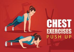 Pushup Demonstration Vector