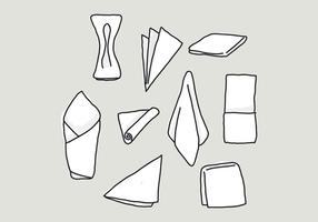 Handdrawn Set Of Napkin Vectors