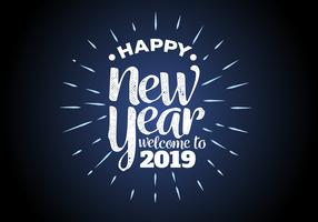 happy new year 2019 background vector illustration