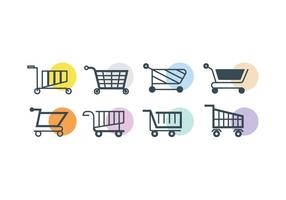 Supermarket cart vector icon