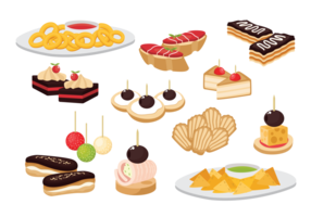 Canape Snacks Appetizer Vector
