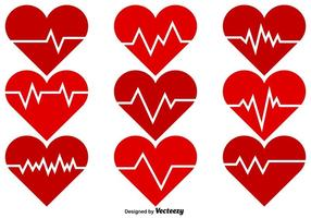 Vector Heart Heart Rhythm Icons