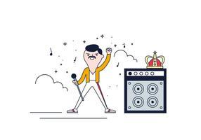 Gratis Freddie Mercury Vector