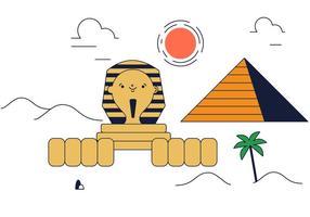 Freier Sphinx-Vektor