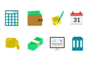 Flat Payroll Icon Vector
