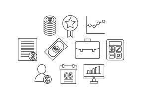 Línea libre de finanzas Icon Vector