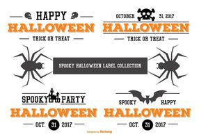 Collection typographique d'étiquettes d'Halloween