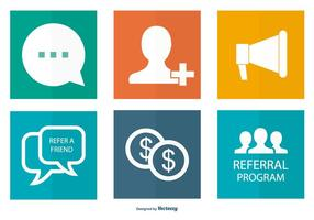 Referral Icon Collection vector