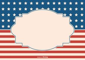 Patriotic Style Background with Blank Label