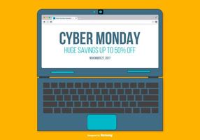 Promocional Cyber ​​Monday Illustration