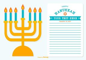 Lycklig Hanukkah Illustration