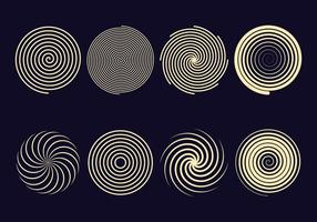 Hypnosis Spiral Icons