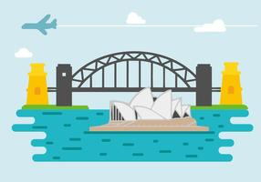 Gratis Sydney Harbour Bridge Vector