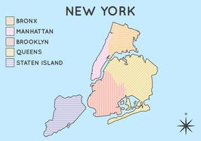 Free Iconic New York Map Vector