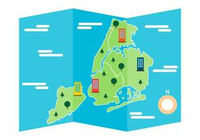 Gratis ikonisk New York Map Vector
