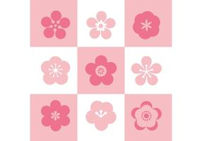 Plum Blossom Set Of Icons