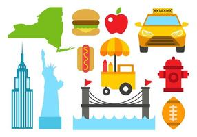 Kostenlose New York Icons Vector
