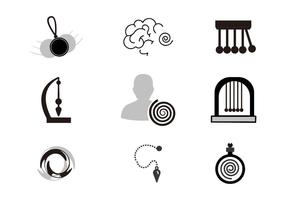 Free Hypnosis Icons Vector