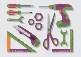 Bricolage muurschildering apparatuur vector pack