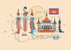 Hermosa Camboya Vector