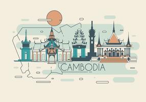 Vettore del punto di riferimento della Cambogia