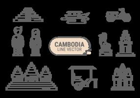 Cambodia Icons Vector