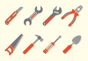 Bricolage tools iconen vector