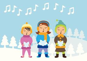 Jul Carolers Vector