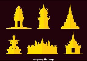 Cambodja Oriëntatiepunt Vector