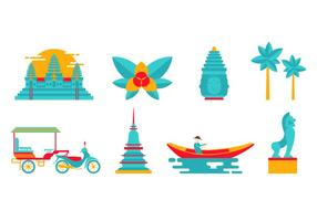 Cambogia Landmark and Culture Vector