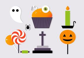 Gratis Scary Halloween Vector Element Collectie