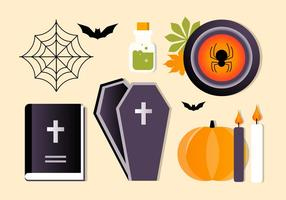 Collection gratuite d'éléments vectoriels d'Halloween