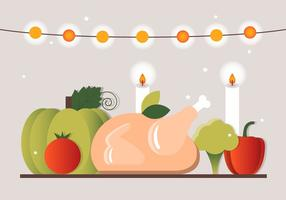 Gratis Thanksgiving Dinner Vector Elementen