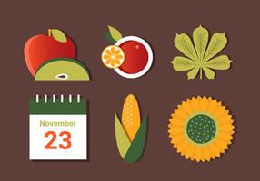 Libre de otoño cosecha elementos vectoriales