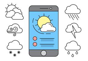 Free Linear Weather Icons