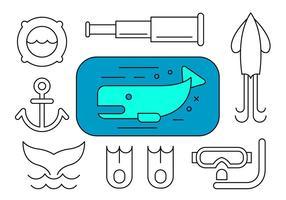 Elementos de design marinho gratuitos