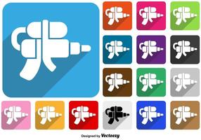 Vector Flat Style Water Gun Pictogram