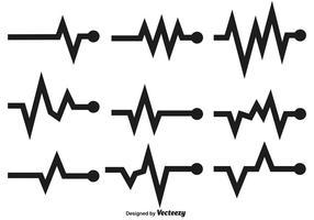 Gráficos vetoriais do ritmo cardíaco