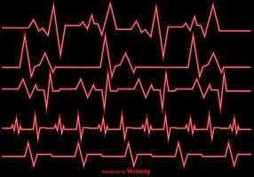Illustration vectorielle Heart Rhythm Ekg Vector
