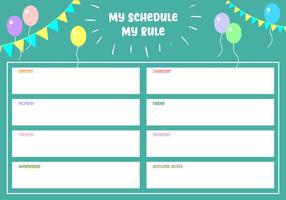 My_schedule_my_rule_free_vector