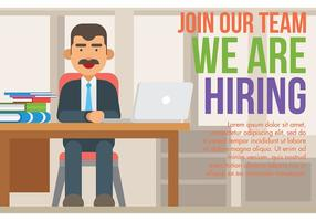 Now Hiring Vector Illustration
