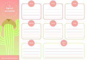 Printable Inspired Planner Free Vector