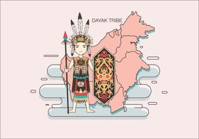 Dayak Tribe Vector