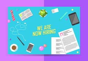 We Are Now Hiring Poster Template Free Vector
