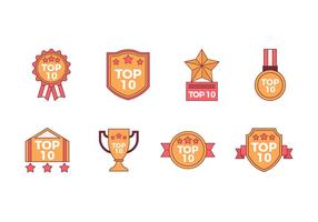 Gratuit TOP 10 badges vectoriels
