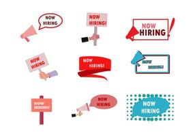 Now Hiring Vectors