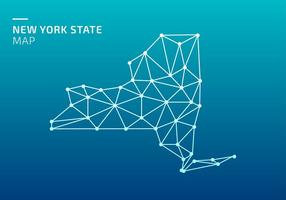 Carte de l'État de New York Lowpoly Net Free Vector